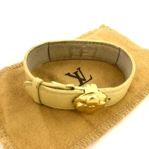 Louis Vuitton Cyber Epi Leather Good Luck Bracelet + Duster